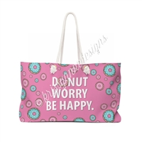 KAD Extra Large Weekender Tote - Donut Worry
