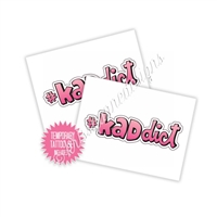 KAD Temporary Tattoo - #KADdict - Set of 2