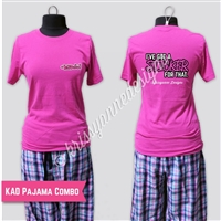 KADdict Wear - Pink Sticker for That PJ Combo Set