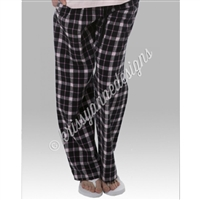 KADdict Wear - Black Plaid PJ Pant