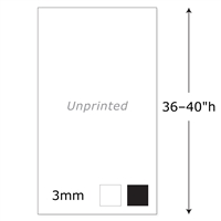 "36-40""h Twist Unprinted Panel - 3mm"