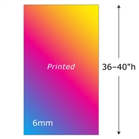 "36-40""h Twist Printed Panel - 6mm"