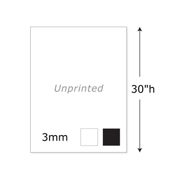 "30""h Twist Unprinted Panel - 3mm"