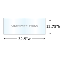 "12.75""h Twist Showcase Panel"