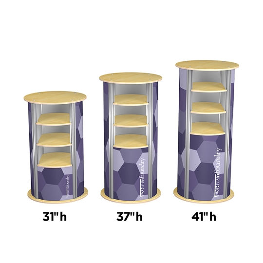 3-Up Medium Circle Pedestal
