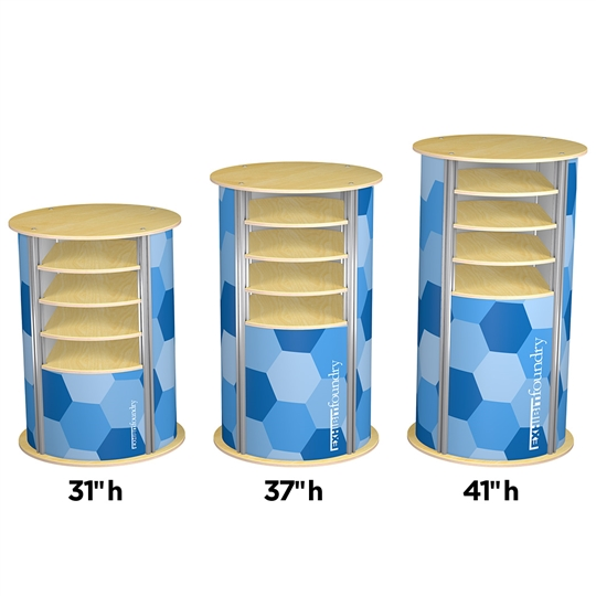 4-Up Large Circle Pedestal