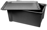 "705400 - ESD Safe Conductive Stack & Nest Box - (23-1/2"" L x 16-1/8"" W x 10-1/4"" H)"
