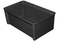 "812100 - ESD Safe Conductive Stacking Box - (16-7/8"" L x 9-1/2"" W x 6-1/4"" H)"