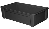 "814200 - ESD Safe Conductive Stacking Box - (20-3/4"" L x 11-1/4"" W x 5"" H)"