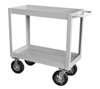 "Cushion Load, 3"" Deep Lip Heavy Duty Transport Cart - 18"" x 36"" Shelf Size"