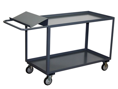 "AT25 - Two Shelf Cart w/ Writing Stand - 30"" x 60"" Shelf Size"