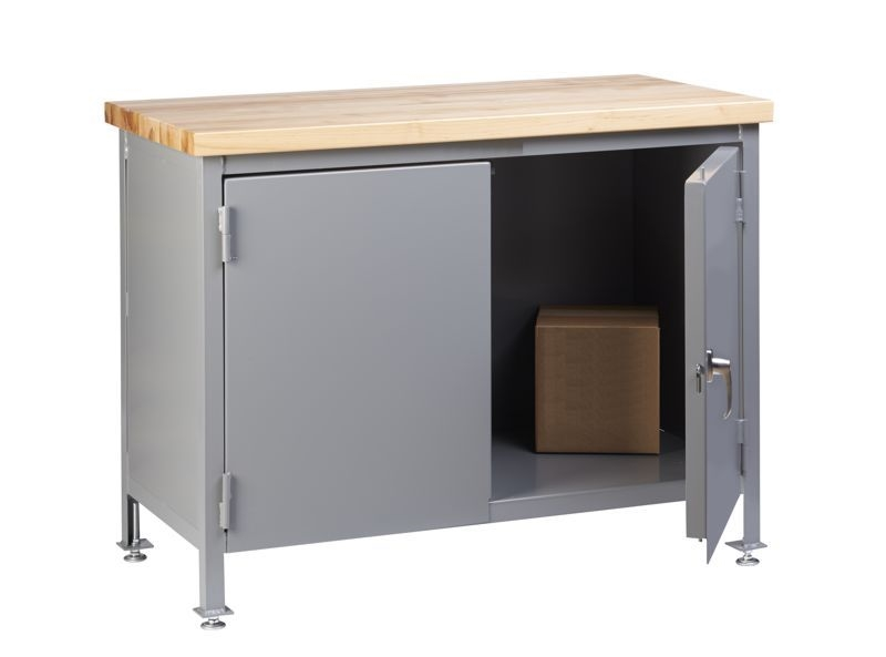 Bbc19 Butcher Block Cabinet W Two Doors 24 X 48 Work Surface
