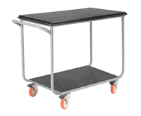 Tubular Frame Mobile Instrument Cart w/ Total Lock Casters