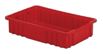 "Carton of (8) DC2-035 - Divider Tote Box, 16-1/2"" L X 10-7/8"" W x 3-1/2"" H"
