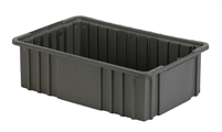 "Carton of (8) DC2-050 - Divider Tote Box, 16-1/2"" L X 10-7/8"" W x 5"" H"