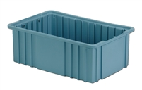 "Carton of (8) DC2-060 - Divider Tote Box, 16-1/2"" L X 10-7/8"" W x 6"" H"