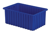"Carton of (6) DC2-070 - Divider Tote Box, 16-1/2"" L X 10-7/8"" W x 7"" H"