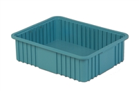 "Carton of (4) DC3-060 - Divider Tote Box, 22-1/2"" L X 17-1/2"" W x 6"" H"