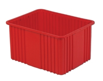 "Carton of (3) DC3-120 - Divider Tote Box, 22-1/2"" L X 17-1/2"" W x 12"" H"