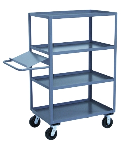 "Four Shelf Picking Truck w/ Sloped Writing Stand - 24"" x 36"" Shelf Size"