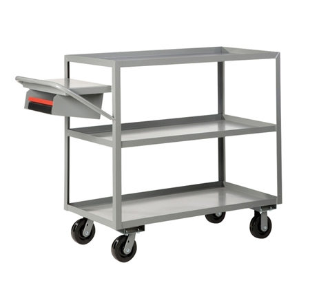 "EK24 - Three Shelf Order Picking Truck - 30"" x 48"" Shelf Size"