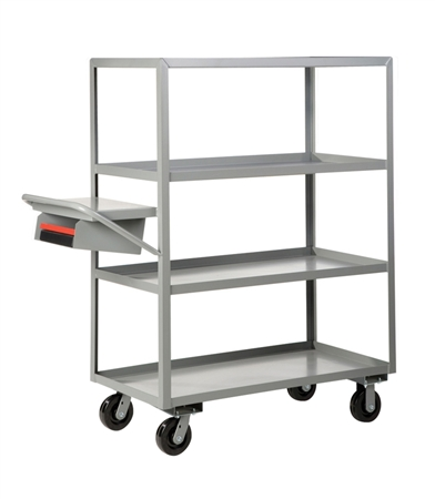 "EL25 - Four Shelf Order Picking Truck - 30"" x 60"" Shelf Size"