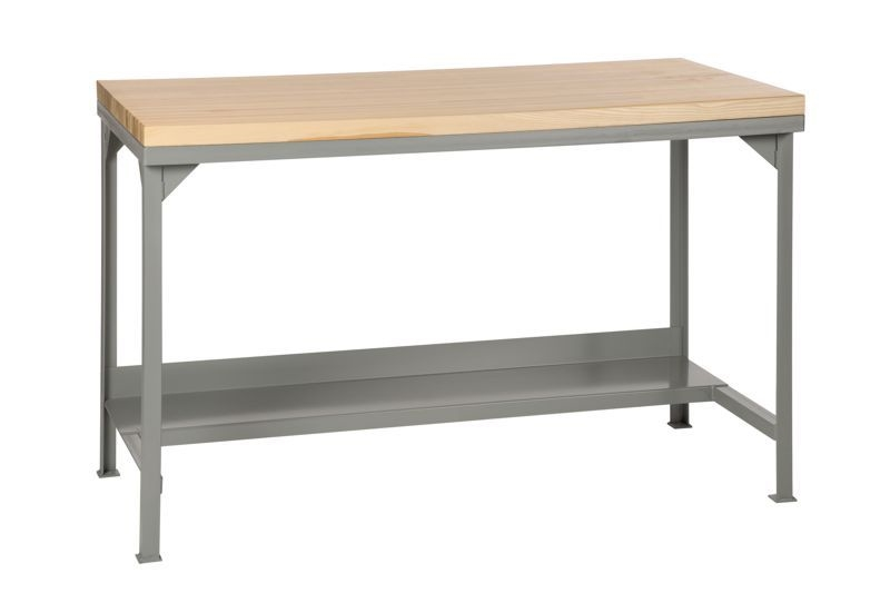 Fbb19 Fixed Height Butcher Block Worbench 24 X 48 Bench Size