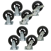 "M3 - 6"" x 2"" Mold-On Rubber Casters - 2,000-lbs. Capacity"