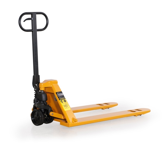 "Low Profile Pallet Jack - 20.5"" Wide x 48"" Long Forks - 5,000-lbs Capacity"