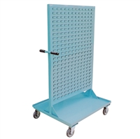 "NA23 - Double Sided Louvered Panel Bin Cart - 30"" x 36"" Shelf Size"