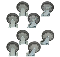 "R1 - 5"" x 1-1/4"" Thermorubber Casters - 800-lbs. Capacity"