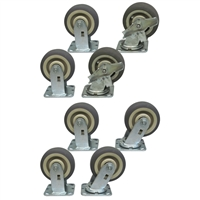 "R3 - 6"" x 2"" Thermorubber Casters - 2,200-lbs. Capacity"