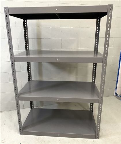 "Four Shelf Heavy Duty Shelving Unit, 48"" x 24"" Shelf Size, 72"" High"