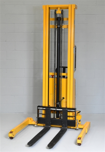 Used Semi-Electric Straddle Stacker