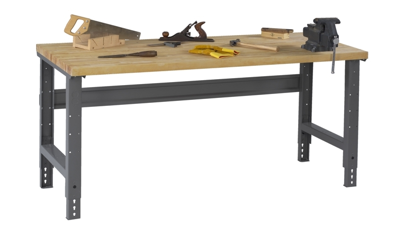 Butcher Block Workbench >> Butcher Block Workbench W Adjustable Height Legs 30 X 72 Bench Top