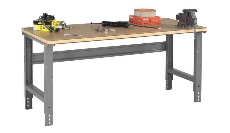Compressed Wood Workbench w/ Adjustable Height Legs - 36
