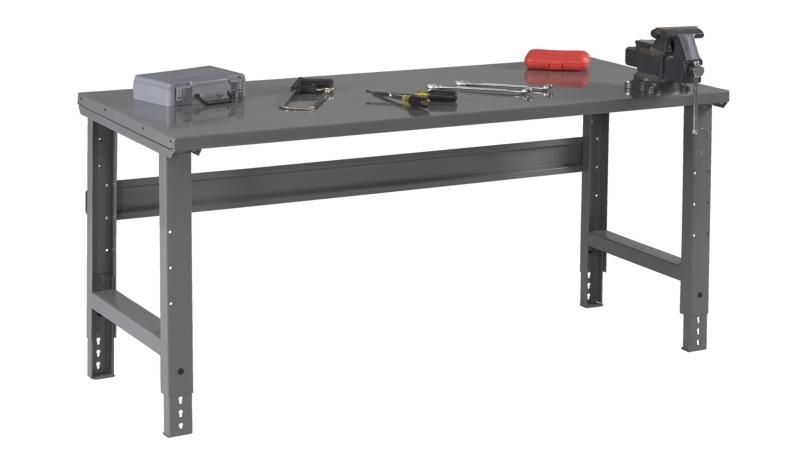 Strange Steel Top Workbench W Adjustable Height Legs 36 X 60 Bench Top Frankydiablos Diy Chair Ideas Frankydiabloscom