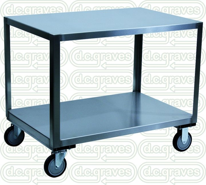 YB Stainless Steel Mobile Table X Shelf Size - Stainless steel table 18 x 24