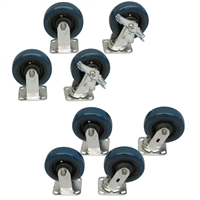 "Y3SS - 6"" x 2"" Polyurethane Casters with Stainless Steel Rigs - 3,600-lbs. Capacity"