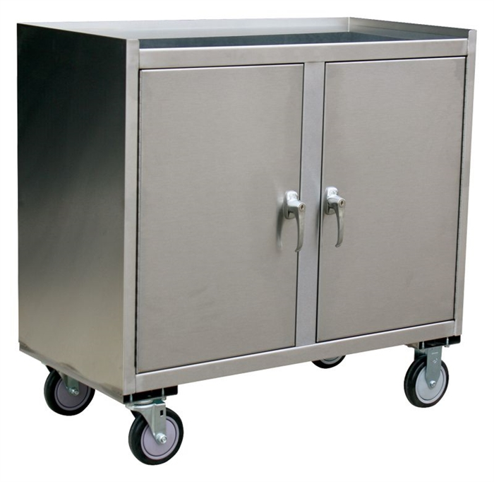 Kitchen Cabinets On Wheels: 2 Door Metal Cabinet On Wheels