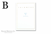 Clairefontaine Triomphe Stationery Tablet - 5.875in x 8.25in - Blank