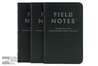 Field Notes 3-Pack - Pitch Black - Ruled