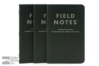 Field Notes 3-Pack - Pitch Black - Dot-Graph