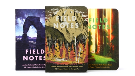 Field Notes 3-Pack - National Parks - Series D