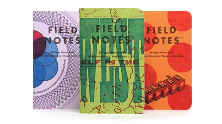 Field Notes 3-Pack - United States of Letterpress - Pack A