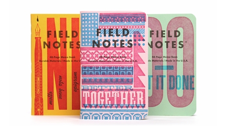 Field Notes 3-Pack - United States of Letterpress - Pack B