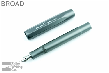 Kaweco AL Sport Fountain Pen - Gray - Broad