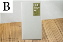 Midori Traveler's Notebook - Regular Size - Refill 013 - Light Paper Notebook