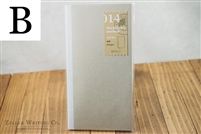 Midori Traveler's Notebook - Regular Size - Refill 014 - Kraft Paper Notebook
