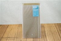 Midori Traveler's Notebook - Regular Size - Refill 008 - Zipper Pocket